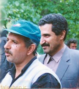 مجید مجیدی و علی عبدلی در پشت صحنه فیلم رنگ خدا